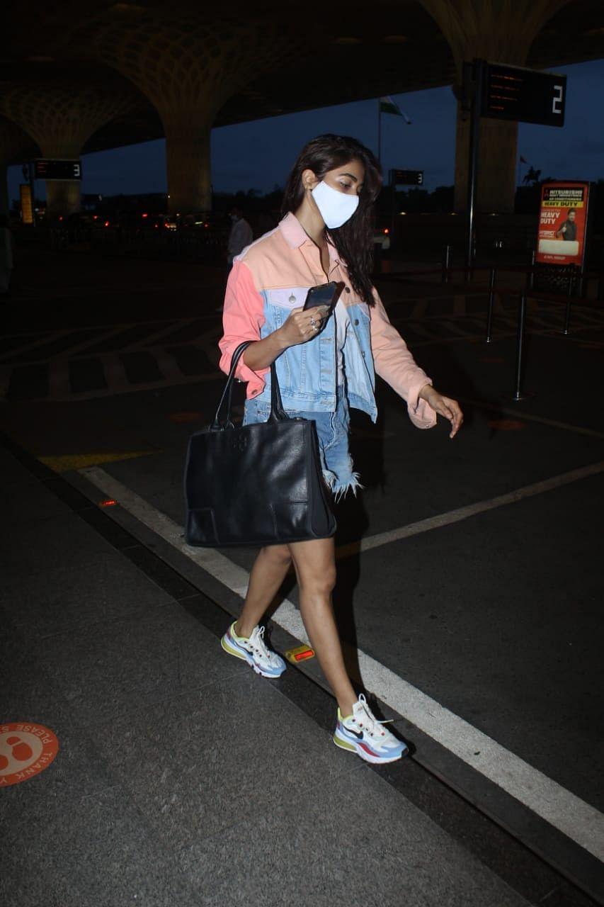 Pooja Hegde at Mumbai airport