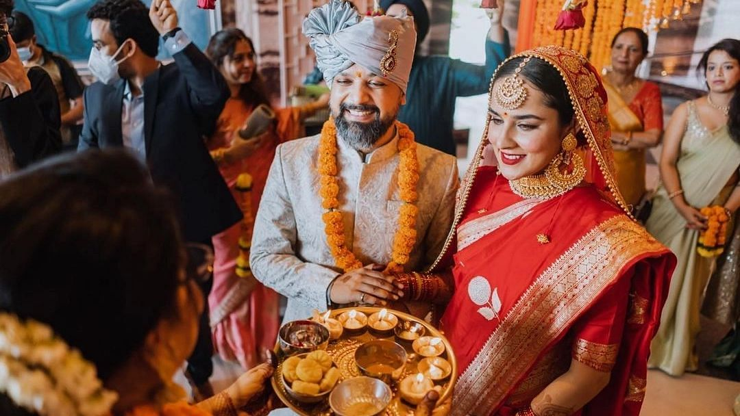 'Commando 3' actress Angira Dhar shares pictures from her secret wedding with 'Bandish Bandits' director Anand Tiwari