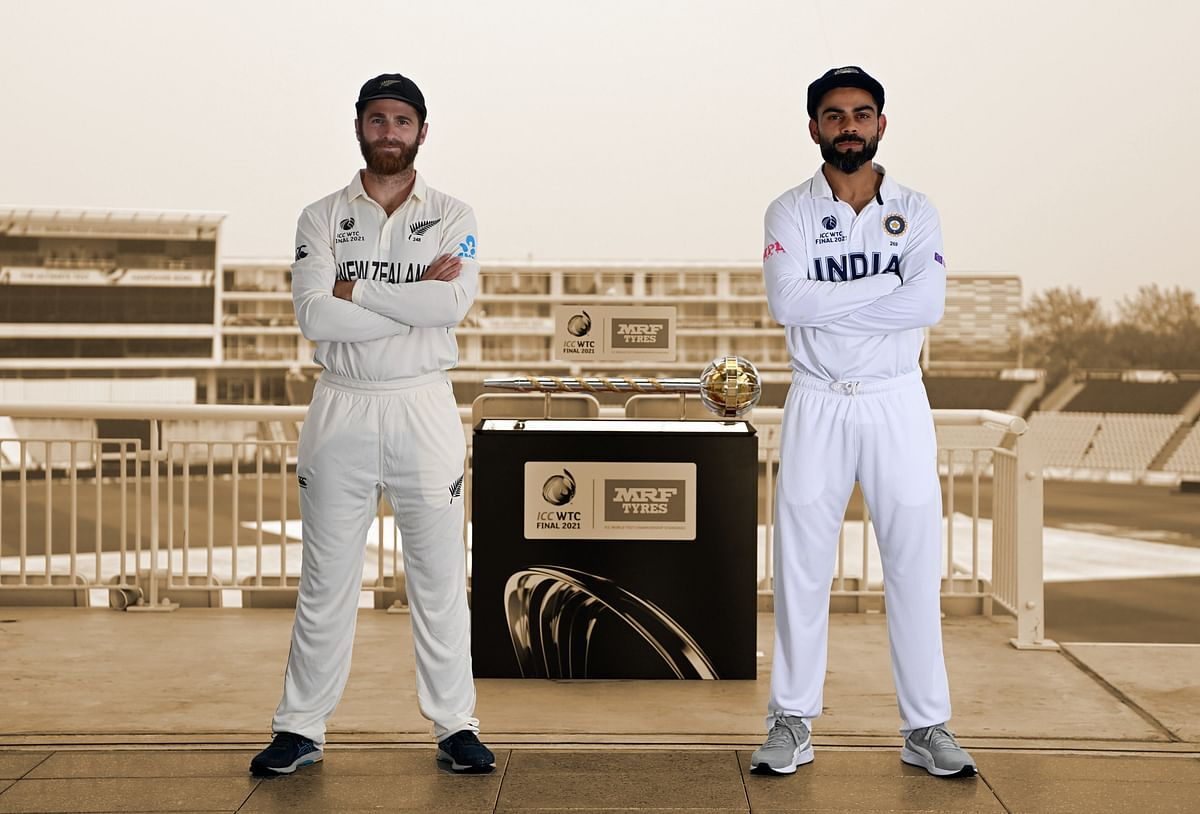 'Kyun chaunk gaye?': Ahead of WTC Final, picture of Kohli and Williamson goes viral; netizens call it 'Tide advertisement'