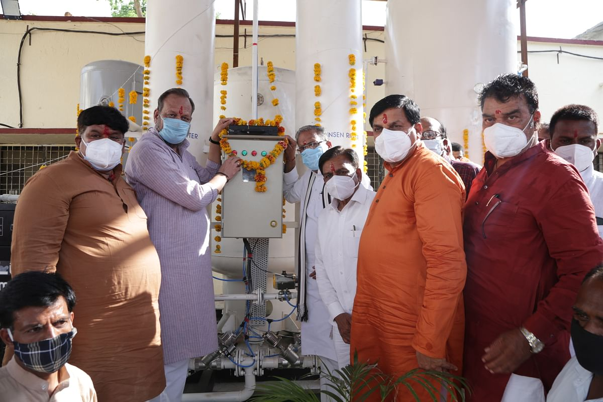 Ratlam: Chief minister inaugurates oxygen plant in Jaora civil hospital virtually, says donors should be feted
