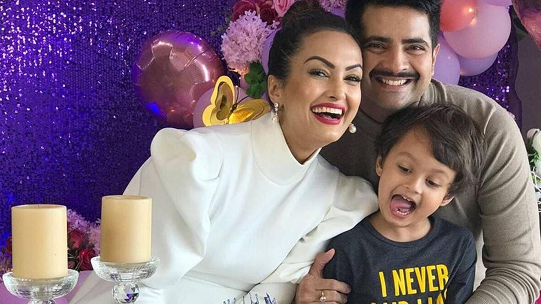 In Pics: Karan Mehra, Nisha Rawal celebrate son Kavish's birthday amid legal dispute