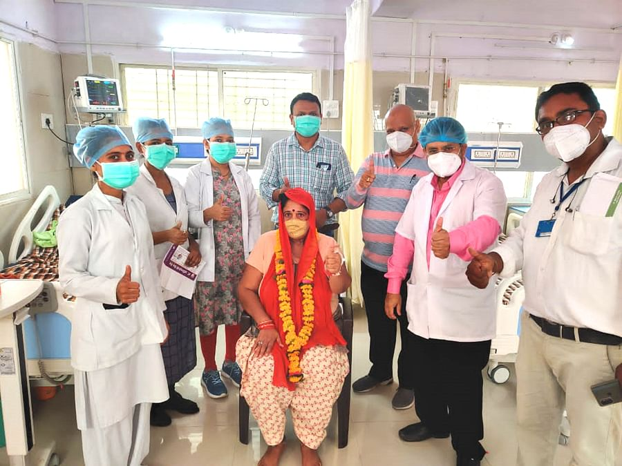 Nagda: 52-year-old woman with acute nervousness defeats Covid-19