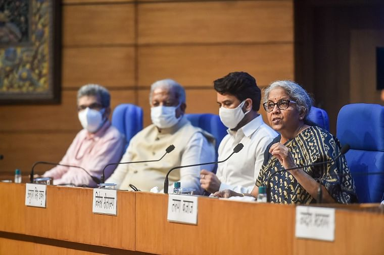 FM Nirmala Sitharaman speaks after the 44th GST Council meeting on Saturday