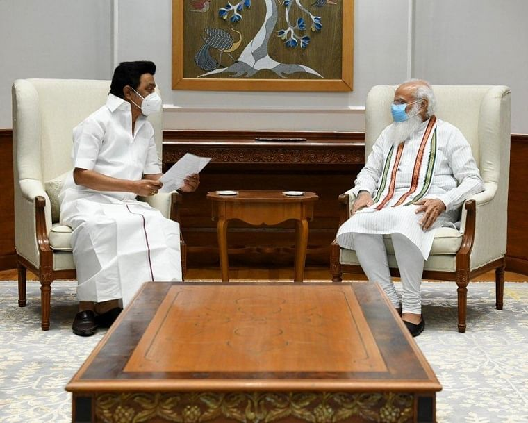 Tamil Nadu CM MK Stalin meets PM Modi, discusses withdrawal of 3 farm laws, scrapping of NEET and New Education Policy