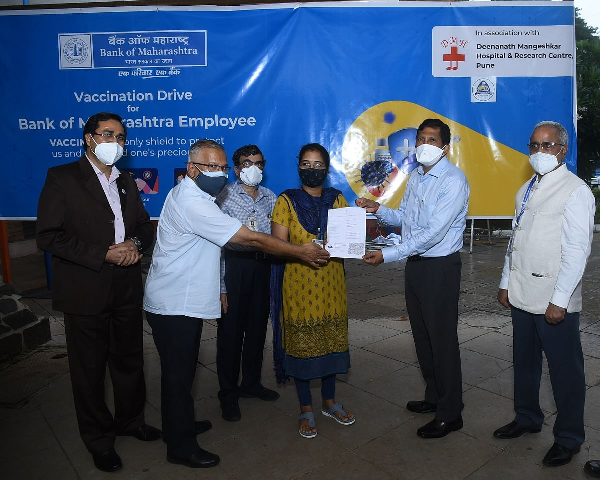 Bank of Maharashtra organises 'Covid Vaccination Drive' for the Front Liners