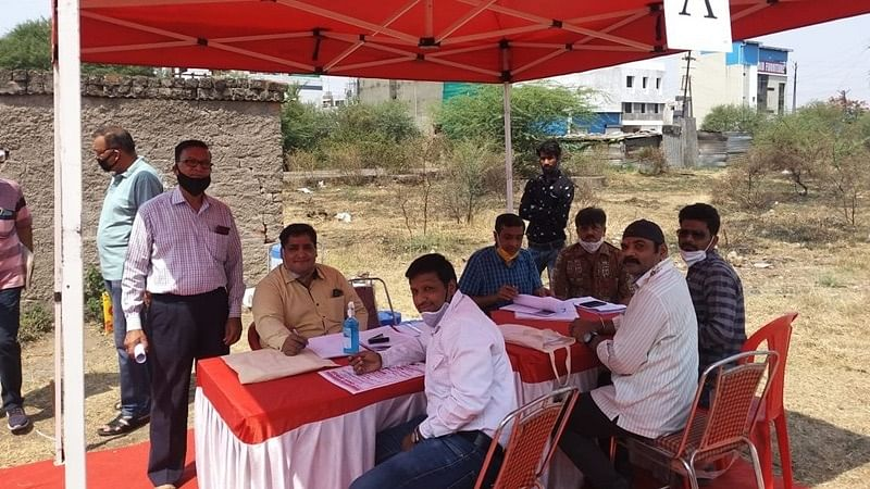 One of the several camps held in Mahalaxmi Nagar during the anti-land mafia drive. File photo