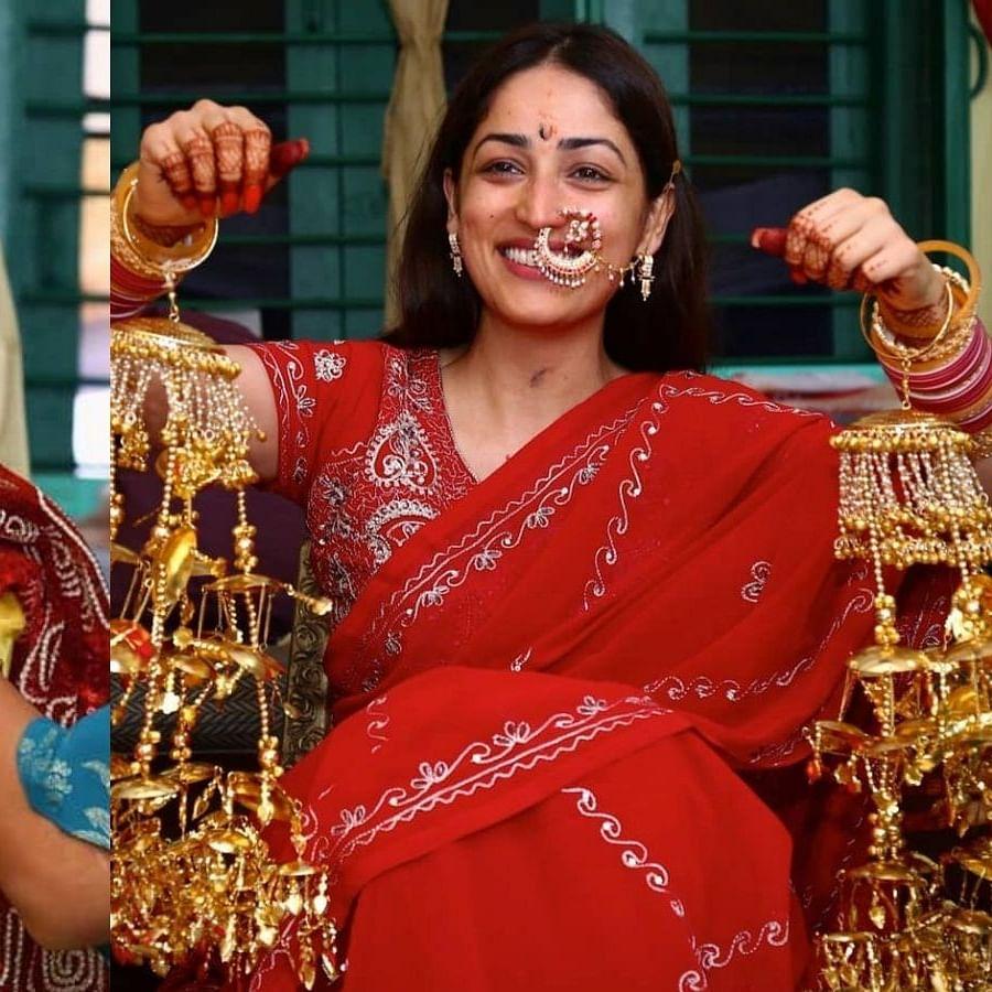 Yami Gautam shares unseen pics from pre-wedding ceremonies; Vikrant Massey calls her 'Pure and Pious like Radhe Maa'