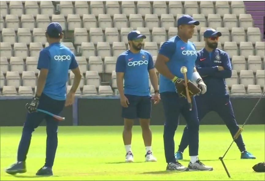 Team India at the nets