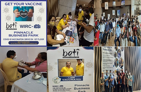ICSI-WIRC jointly with Beti Foundation Charitable Trust organise vax drive
