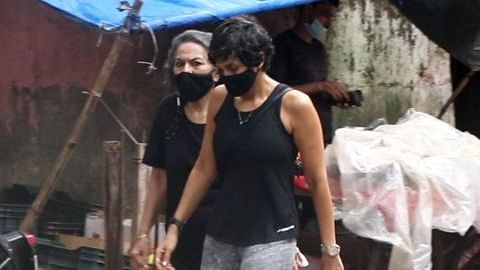 'Please leave her alone': Mandira Bedi spotted first time after husband's demise; netizens lash out at paps for 'invading privacy'