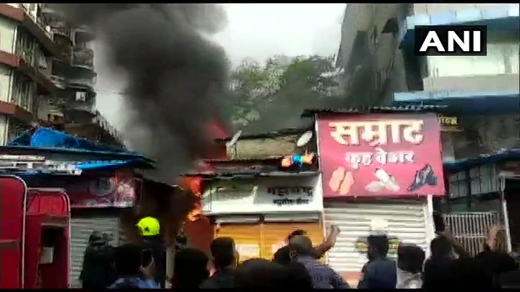 Photos: Fire breaks out at Thane's Prabhat Talkies; no casualty reported
