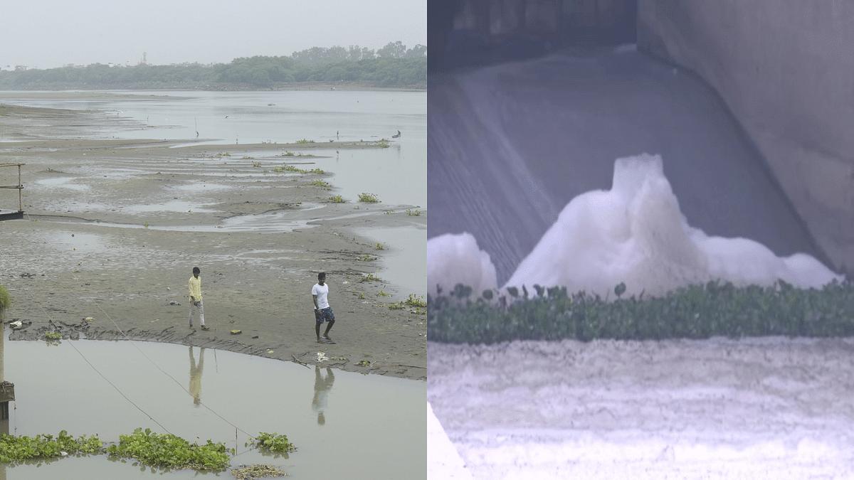 Delhi: Netizens enraged as water levels at Wazirabad barrage lowest since 1965, toxic foam floats in Yamuna