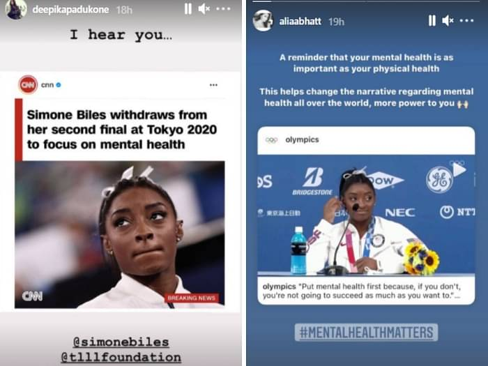 Tokyo Olympics: Deepika Padukone, Alia Bhatt and other celebs support Simone Biles after she withdraws to focus on mental health