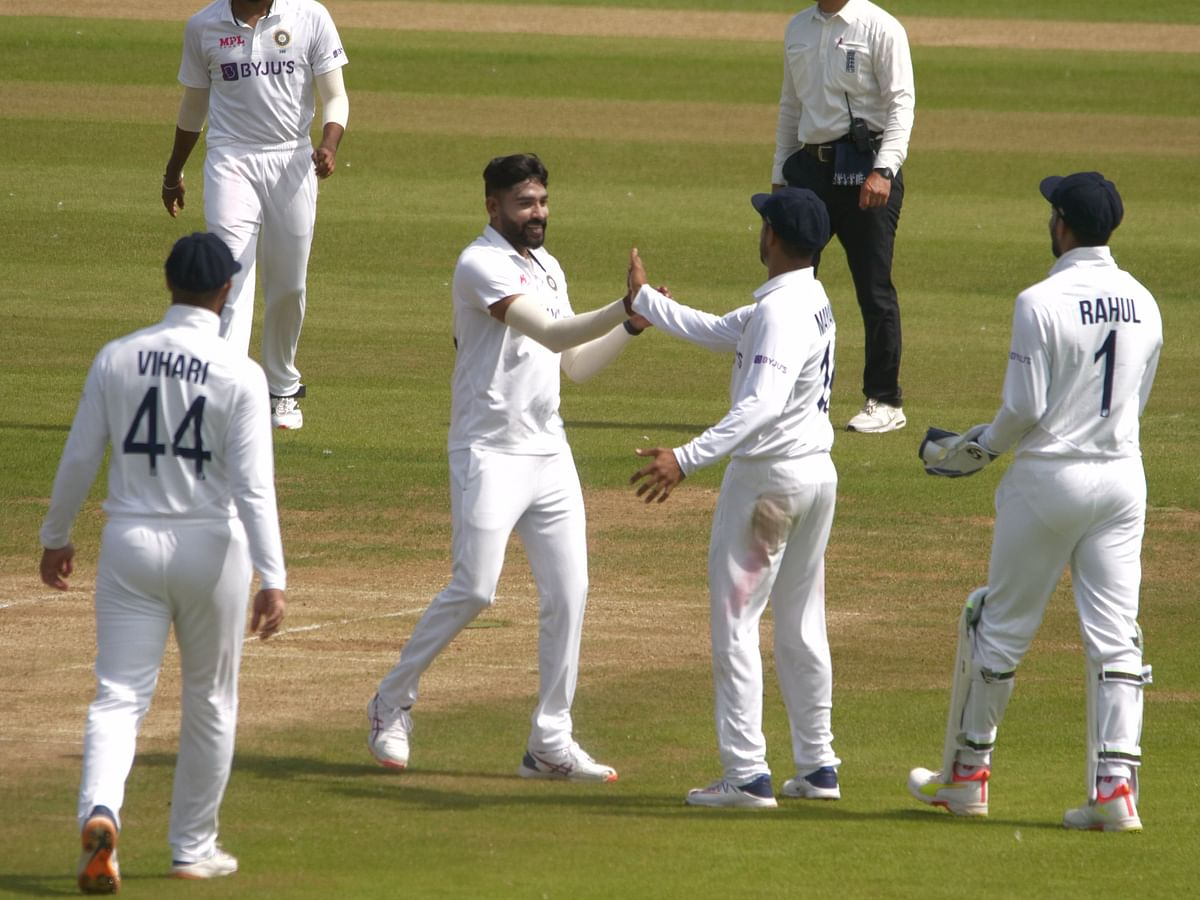 Mohammad Siraj picked up the wicket of Washington Sundar who was playing for County XI