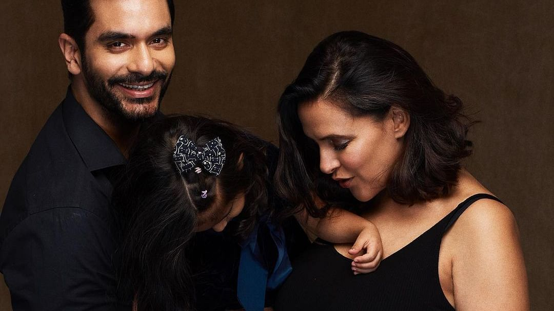Neha Dhupia and Angad Bedi to welcome second child, announce pregnancy with adorable family pic