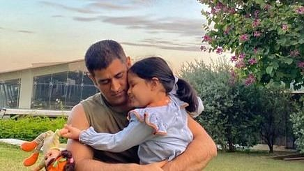 Dhoni and his daughter, Ziva share a lovely bond.