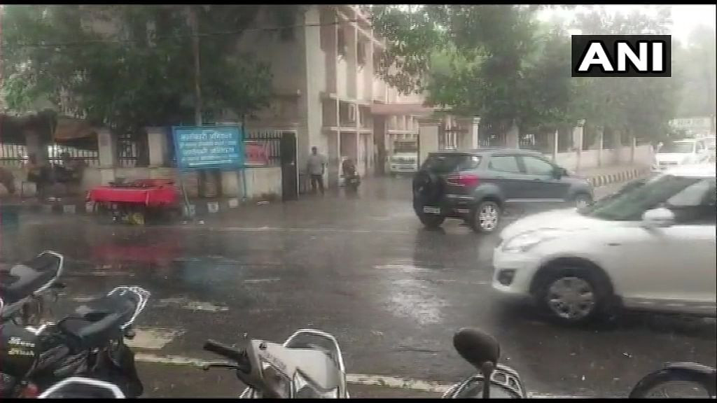 Spell of rain brings down temperature in Haryana's Rohtak on Friday, July 2, 2021.