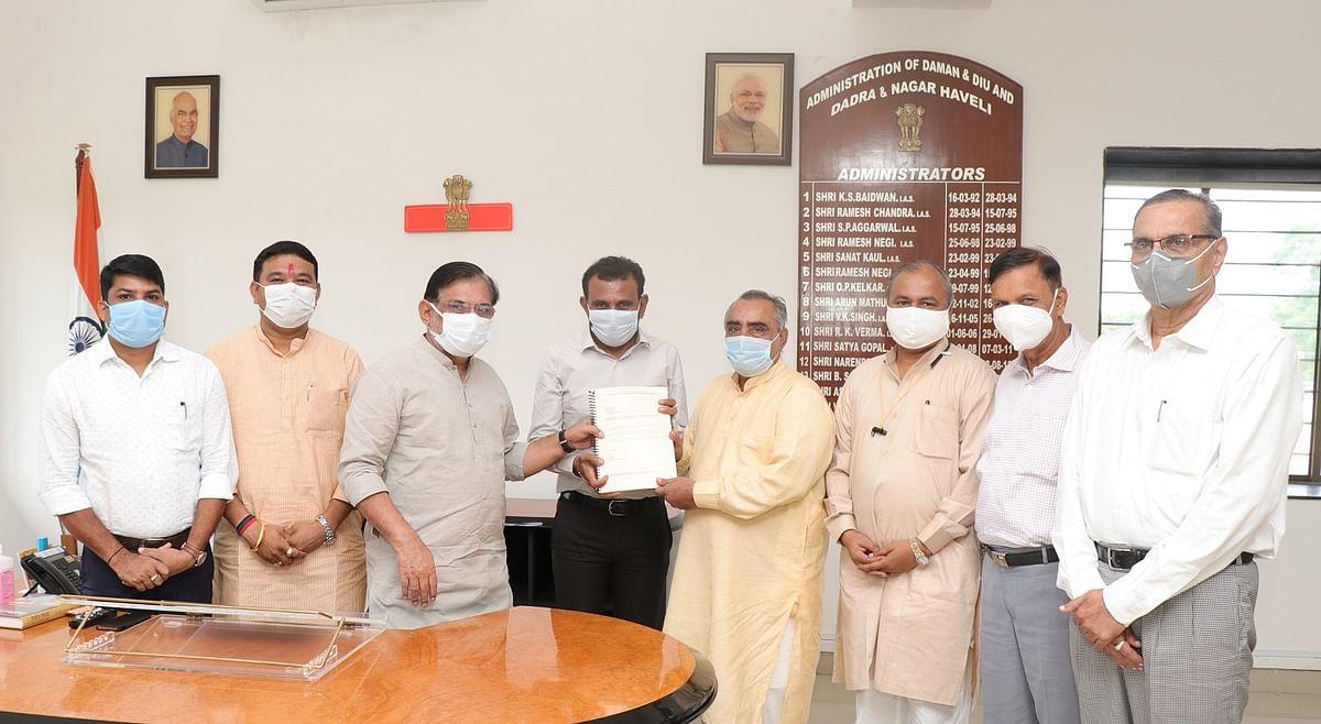 Work order for Netaji Subhash Chandra Bose Military Academy given in presence of Administrator of Union Territory Praful Patel
