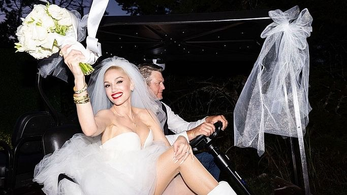 Inside Pics: Singers Blake Shelton and Gwen Stefani say 'I do' in an intimate wedding ceremony