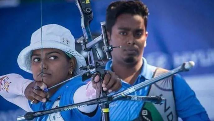 Deepika and husband Atanu Das