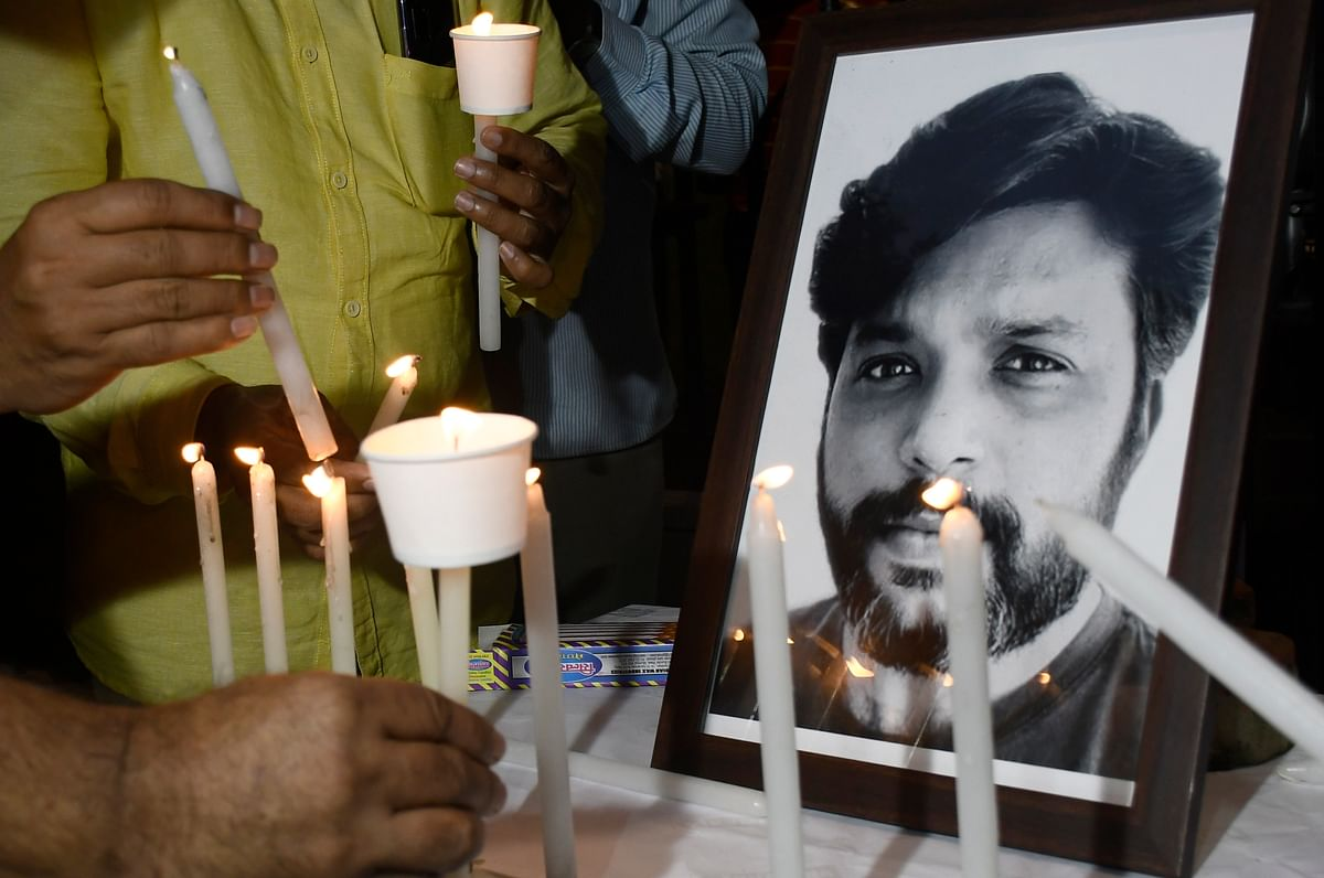 In Pics: Bombay news photographers Association and Mumbai Press Club journalists hold a candlelight vigil for Danish Siddiqui