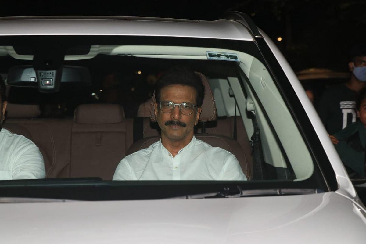 Javed Jaffery at Dilip Kumar's house
