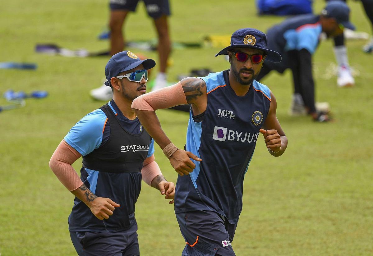 Ishan Kishan (L) and Krunal Pandya