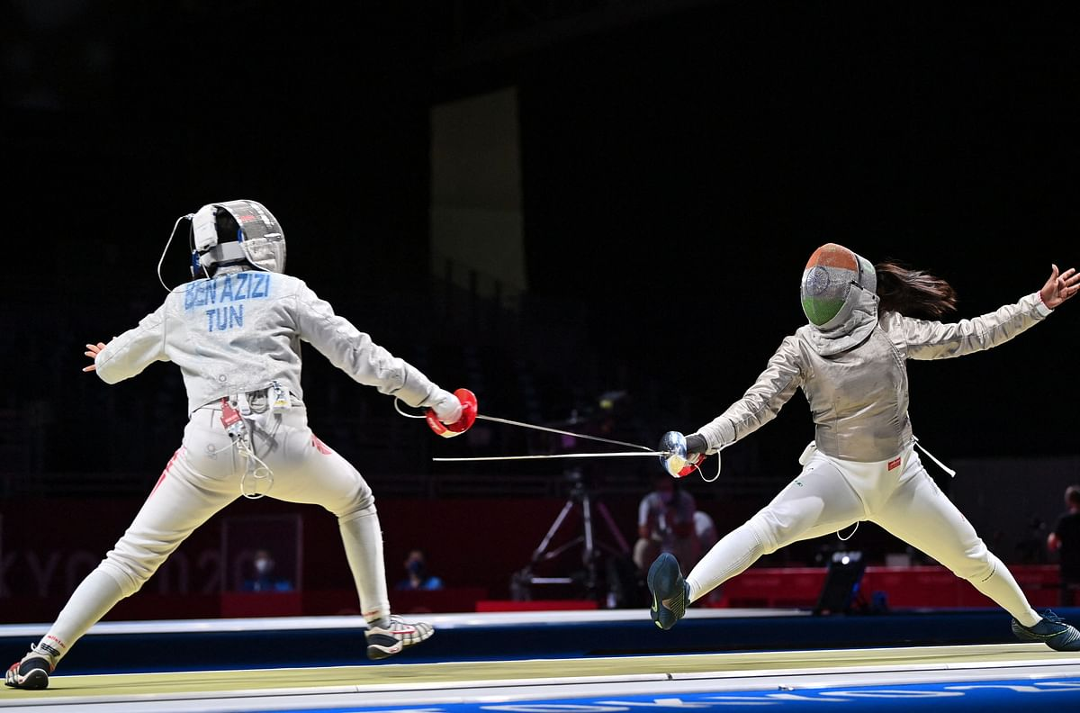 Fencing at Tokyo Olympics: Bhavani Devi makes history for India by defeating Tunisia's Nadia Ben Azizi