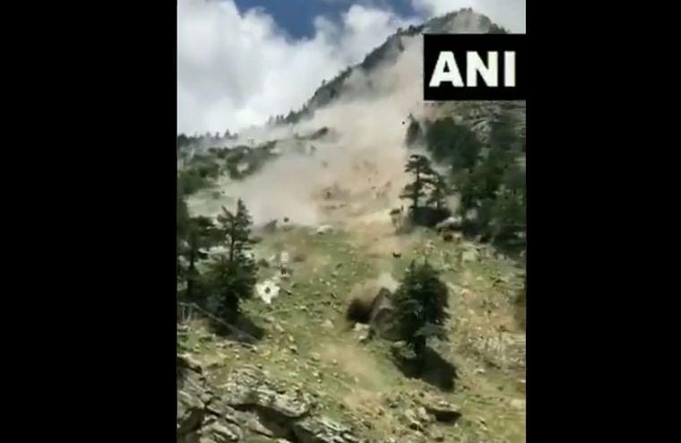 Watch video: Boulders roll downhill due to landslide in Kinnaur district; at least nine dead, three injured in incident