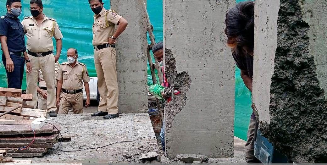 Navi Mumbai: NMMC demolishes three more illegal structures in Airoli