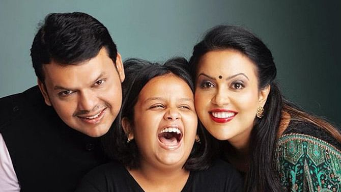 Devendra Fadnavis Birthday Special: Ex-CM's adorable family moments with daughter Divija and wife Amruta