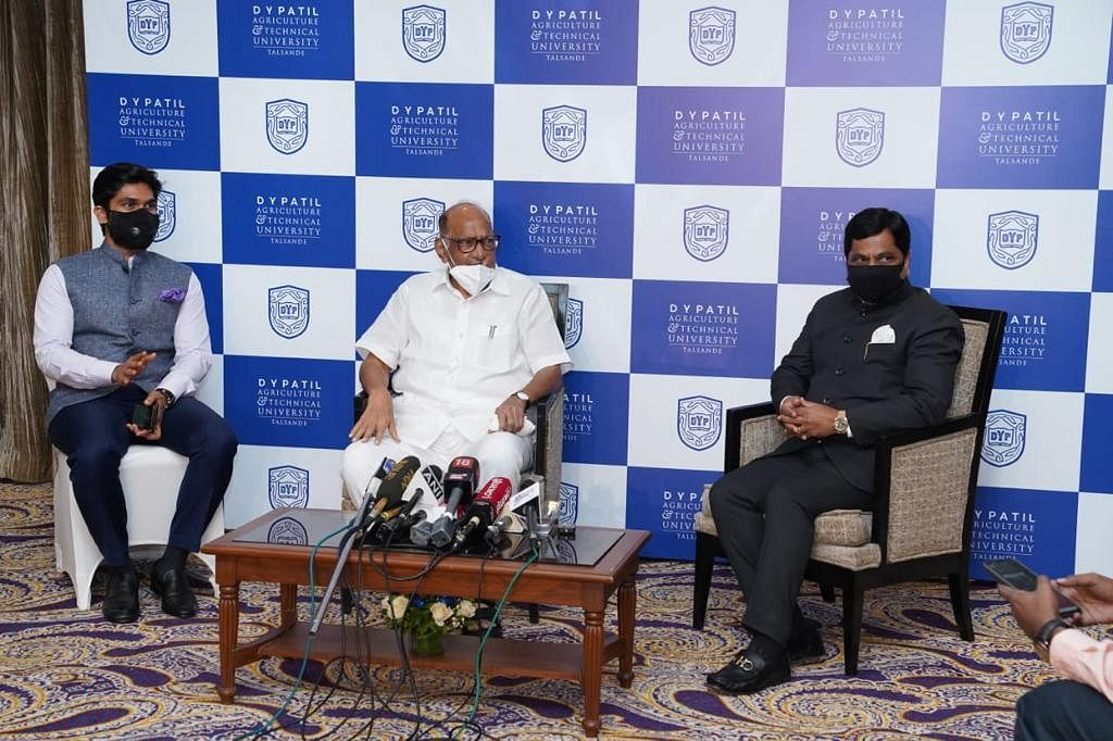 NCP Chief Sharad Pawar virtually inaugurated the DY Patil Agriculture and Technical University.