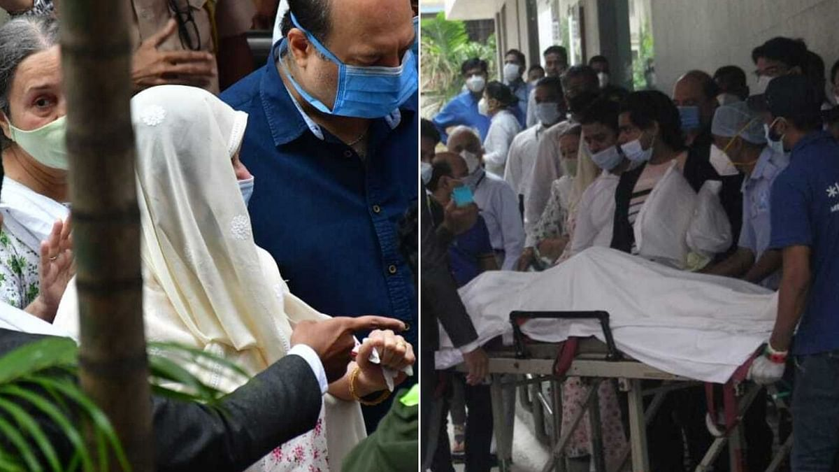 Saira Banu spotted leaving the hospital with Dilip Kumar's mortal remains
