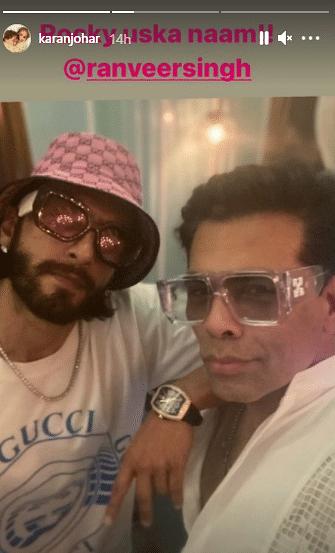 Karan Johar, Ranveer Singh pose for a selfie as they begin work on 'Rocky aur Rani Ki Prem Kahaani'