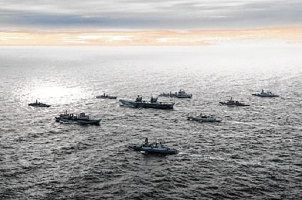The UK's largest warship HMS Queen Elizabeth and its strike task group has sailed into the Indian Ocean and will carry out a mega wargame with the Indian Navy as the aircraft carrier began a 40-nation tour aimed at demonstrating Britain's commitment for an open and inclusive Indo-Pacific.