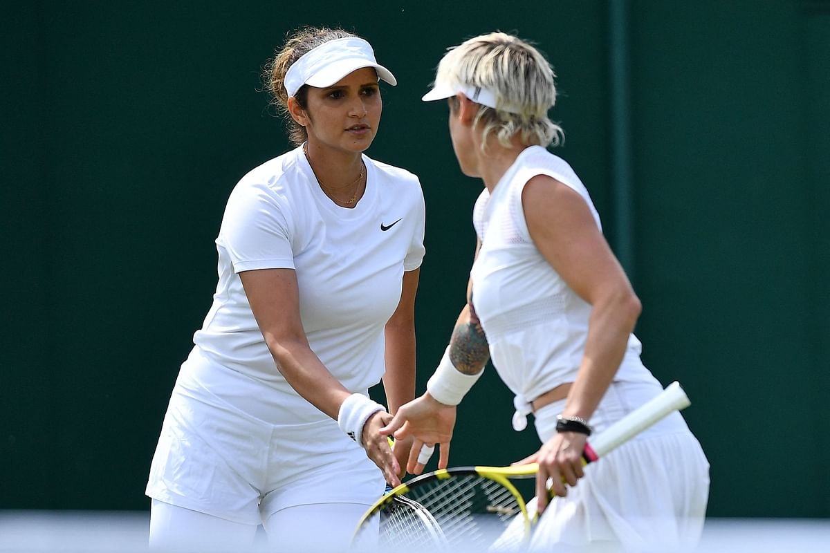 Sania Mirza and her American partner Bethanie Mattek-Sands