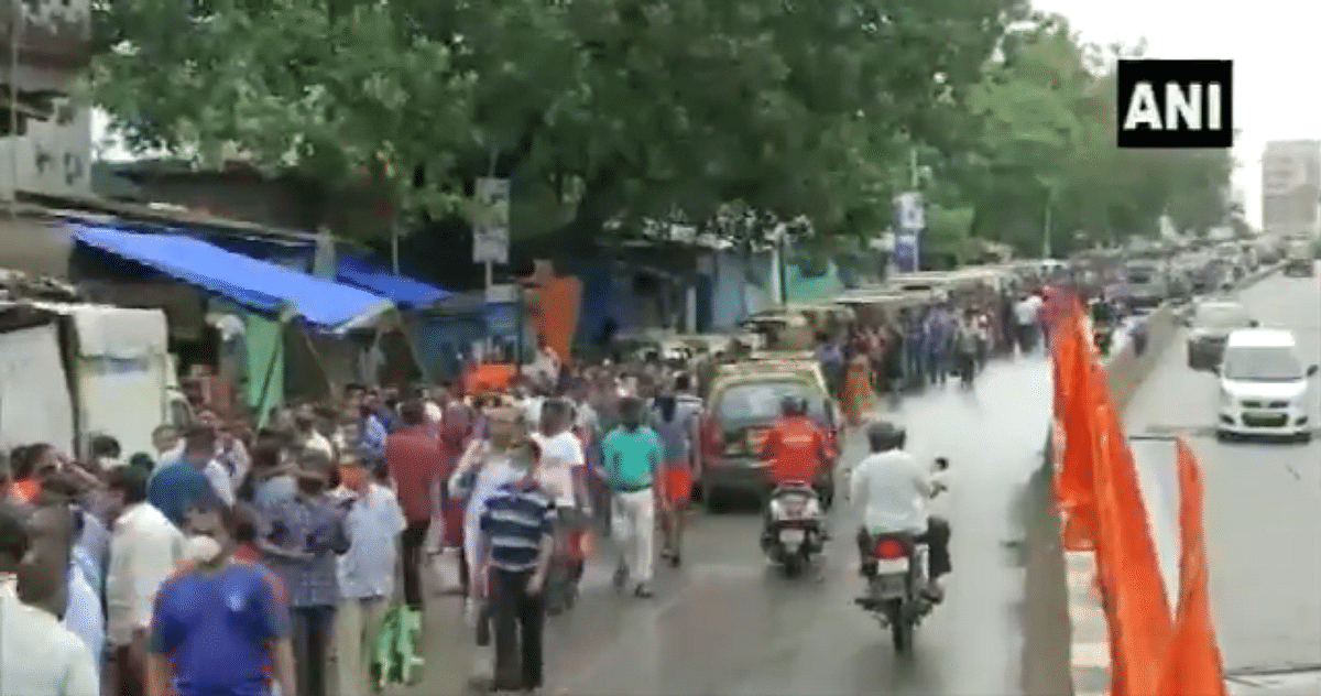 Watch Video: People form long queue outside a COVID-19 vaccination centre in Mumbai's Dharavi