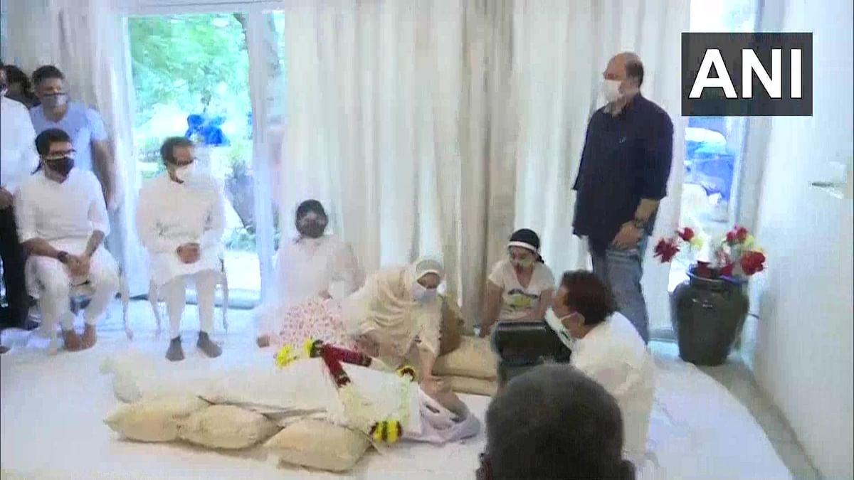 CM Uddhav Thackeray at Dilip Kumar's residence