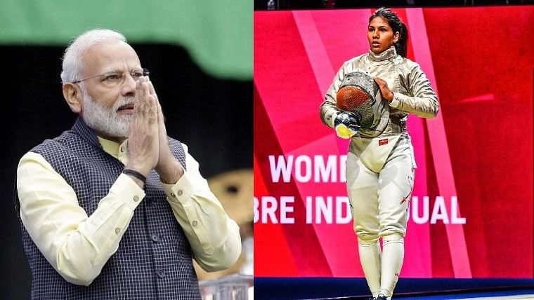 'You gave your best and that is all that counts': PM Modi to Bhavani Devi after fencer's loss in Tokyo Olympics 2020