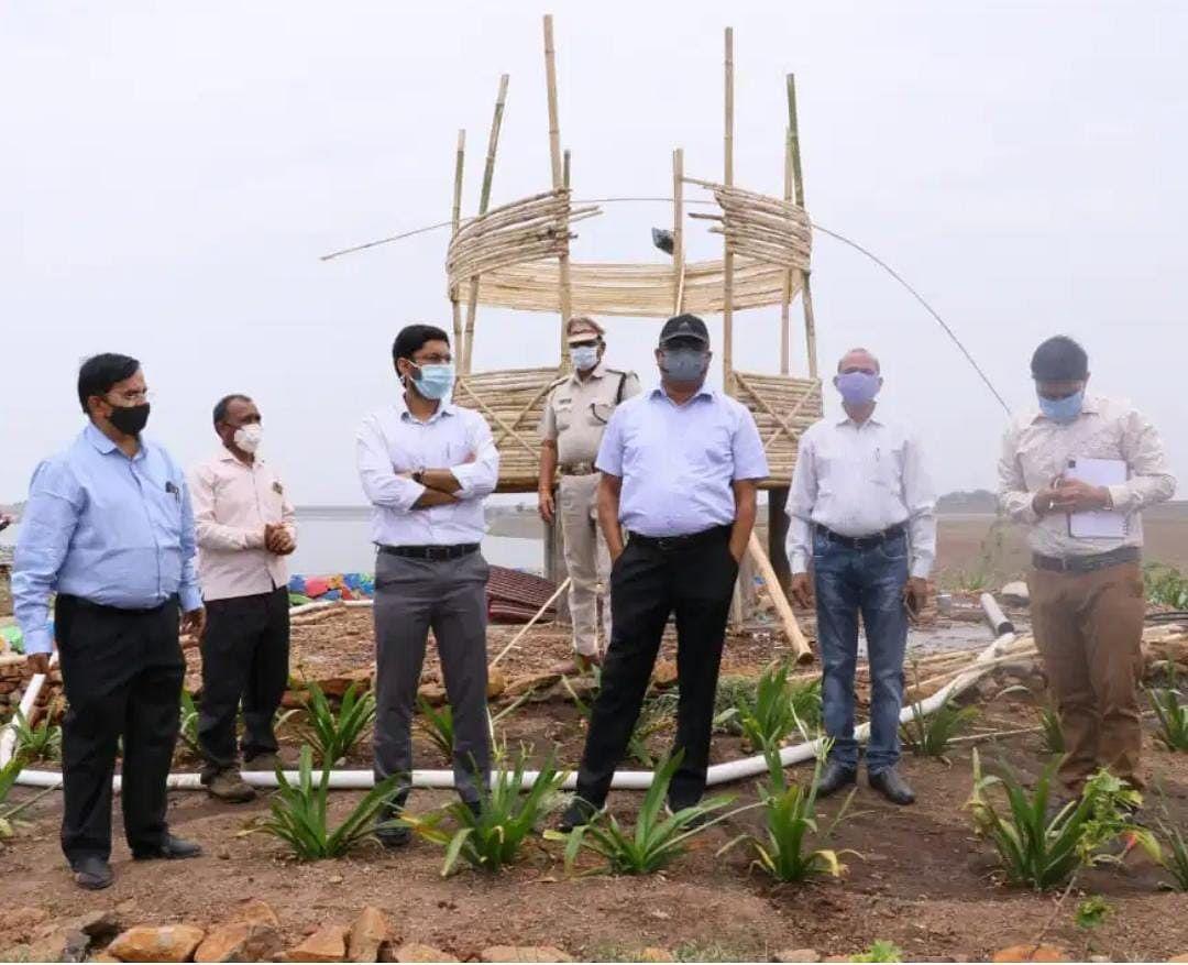 District collector Alok Kumar Singh and district panchayat CEO Ashish Vashisht viewed development works in Sardarpur tehsil on Friday