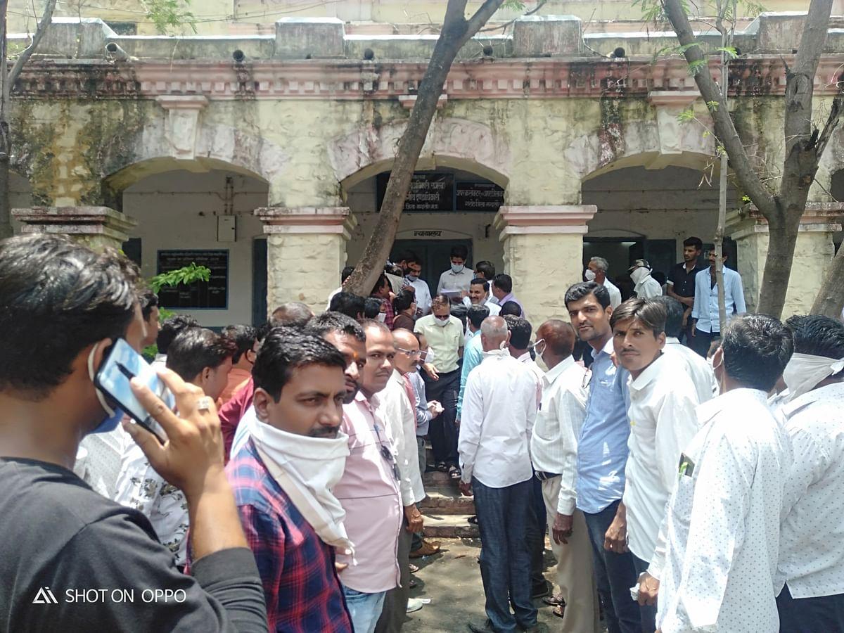 Garoth janpad panchayat employees submitted memorandum on Monday