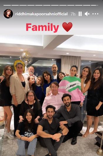 Riddhima wishes mom Neetu Kapoor, shares adorable family photo from birthday dinner featuring Ranbir and Alia