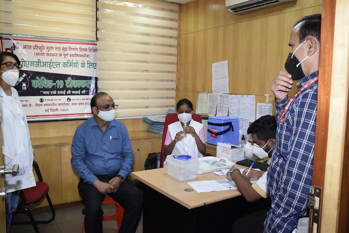 SPMCIL holds Covid vax drive for all employees at Corporate Office