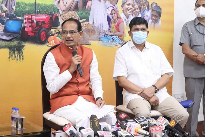 Chief minister Shivraj Singh Chouhan addressing media in Bhopal on Tuesday