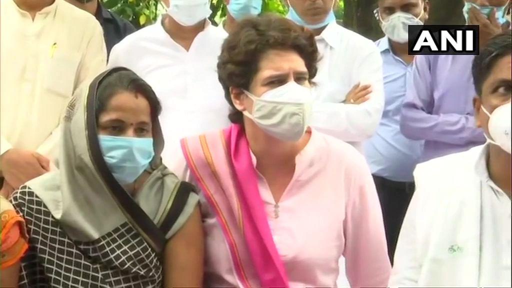Priyanka Gandhi meets SP worker harassed during poll nomination filing; demands re-poll for Lakhimpur Kheri panchayat