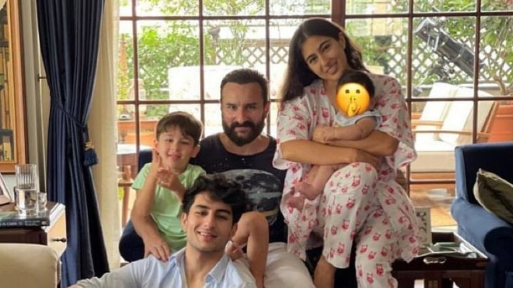 Sara Ali Khan sends Eid wishes to fans with priceless family pic featuring baby Jeh