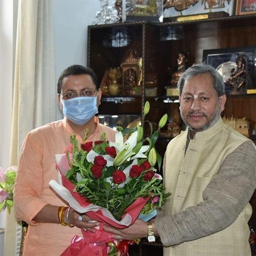Uttarakhand's CM-designate Pushkar Singh Dhami calls on his predecessors ahead of oath-taking ceremony
