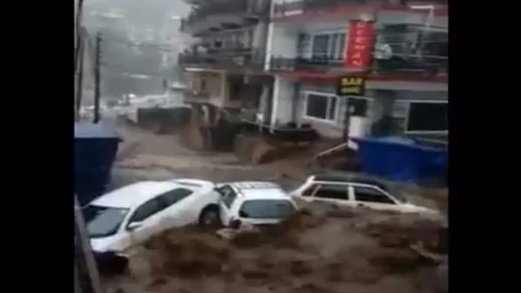 Watch video: Dharamshala hit by flash floods after heavy rains; no casualty reported yet