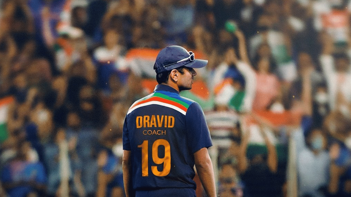 Indian cricket team's head coach and former cricketer Rahul Dravid