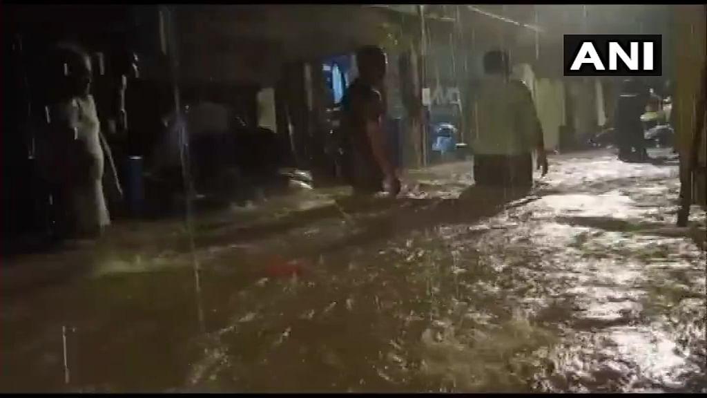 Rainwater entered houses in Hanuman Nagar, Kandivali East area of Mumbai